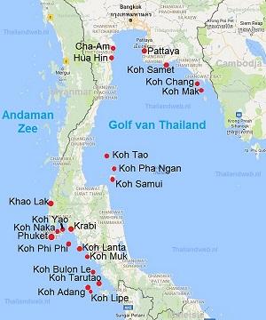 Thailand Bestemmingen Steden Dorpen Plaatsen En Thaise Eilanden